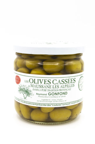 Olives cassées